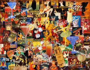 Vintage Liquor Collage by Vintage Apple Collection