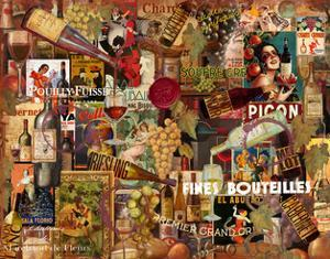Vintage Wine Collage by Vintage Apple Collection