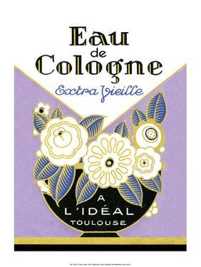 Vintage Art Deco Label, Eau de Cologne