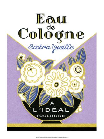 Vintage Art Deco Label, Eau de Cologne