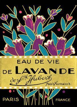Vintage Art Deco Label, Eau de Vie de Lavande