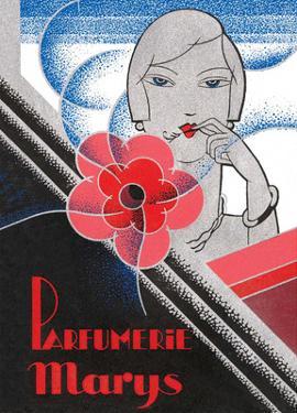 Vintage Art Deco Label, Parfumerie Marys