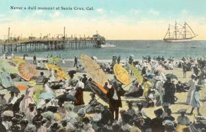 Vintage Beach Scene, Santa Cruz