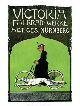 Vintage Bicycle Poster, Victoria