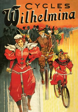 Vintage Bicycle Poster, Wilhelmina