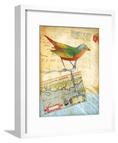 Vintage Botanical Bird Print--Framed Giclee Print