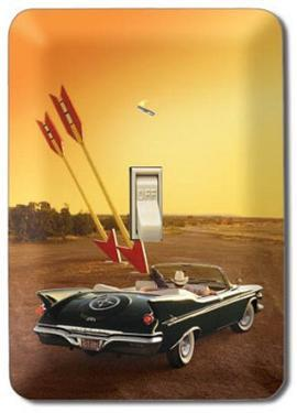 Vintage Car Convertible Double Arrow Light Switch Plate