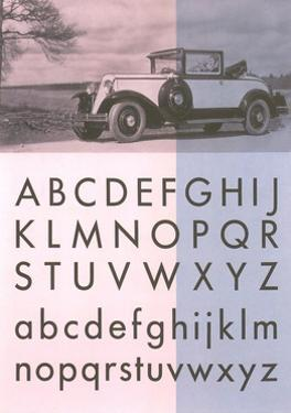 Vintage Car with Alphabet
