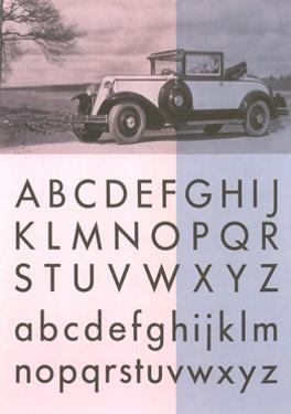 Vintage Car with Font Display