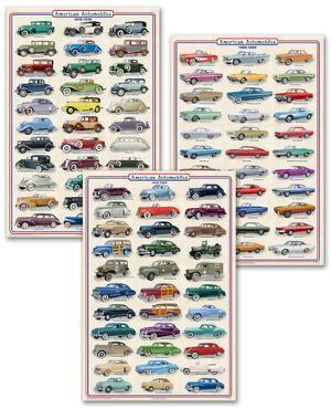 Vintage Cars Poster Set