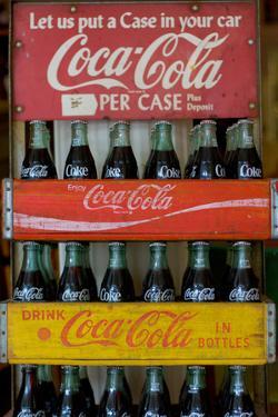 Vintage Coca Cola Bottle Cases Coke Plastic Sign