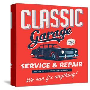 Vintage Design Classic Garage