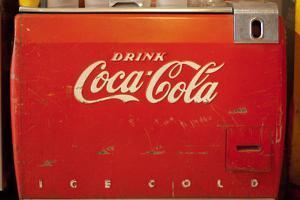 Vintage Drink Coca Cola Ice Cold Coke Vending Machine Photo Poster