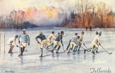 Vintage Ice Hockey, Telluride, Colorado