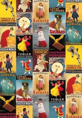 Vintage Italian Chocolat Advertisement Collage