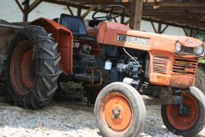 Vintage Kubota L225 Tractor Photo Art Print Poster