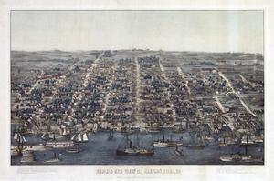 Alexandria Va Forts Built To Defend Washington - Civil War 1863 by Vintage Lavoie
