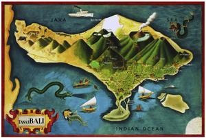 Bali Province Of Indonesia by Vintage Lavoie
