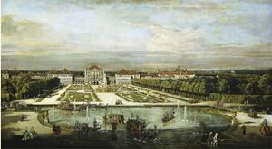 Baroque Nymphenburg Palace By Bernardo Bellotto 1760 by Vintage Lavoie