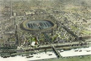 Birds Eye View Of The Universal Exposition In Paris 1867 by Vintage Lavoie