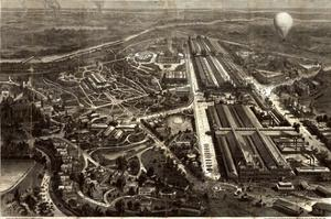 Birdseye Map Of The Centennial Exhibition At Philadelphia In 1876 by Vintage Lavoie