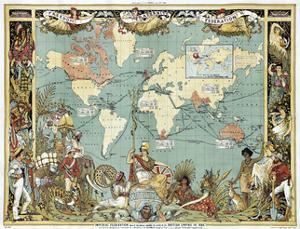 British Empire In 1886 by Vintage Lavoie