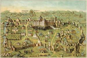 Christian Map Of Jerusalem 1871 by Vintage Lavoie