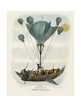 Diligenza Per La Luna 1836 by Vintage Lavoie
