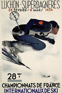French Ski Competition 1939 by Vintage Lavoie