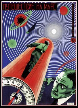 Journey To Mars Russian Constructivist by Vintage Lavoie