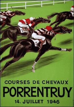 Laubi Hugo Courses Chevaux Porrentruy Year 1946 by Vintage Lavoie