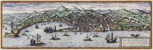 Map Of Geneva Switzerland Around 1600 by Vintage Lavoie