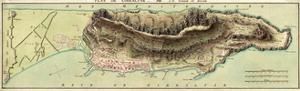 Map Of Gibraltar And Its Fortifications 1799 by Vintage Lavoie