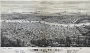 Map Of Portland Oregon 1879 by Vintage Lavoie