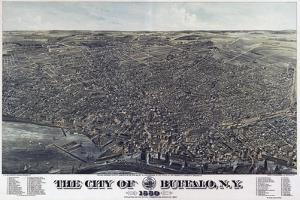 Map Of The City Of Buffalo Ny 1880 by Vintage Lavoie