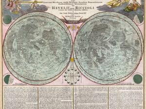 Map Of The Moon-Geographicus-Tabula Selenographica Moon Doppelmayr 1707 by Vintage Lavoie