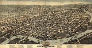 Map Of Wilmington Delaware 1874 by Vintage Lavoie