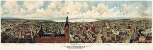 Milwaukee Wisconsin From City Hall Tower 1898 by Vintage Lavoie
