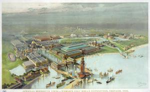 Official Birdseye View World's Columbian Exposition, Chicago 1893 by Vintage Lavoie