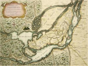 The Isles Of Montreal 1761 by Vintage Lavoie
