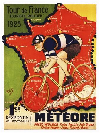 1975 Tour Finish on the Champs Presse E Sports Tour de France Print Poster 31x22