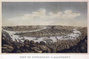 View Of Pittsburgh And Allegheny Pennsylvania 1874 by Vintage Lavoie