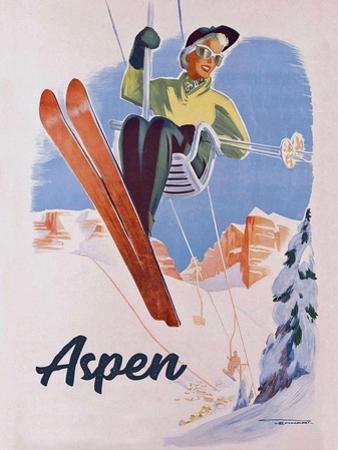 Vintage Aspen Ski Lift by Vintage Lavoie