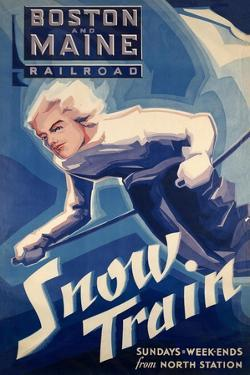 Winter Rail for Skiing by Vintage Lavoie