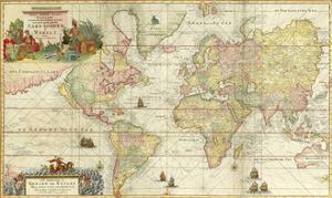 World Map By Gerard Van Keulen by Vintage Lavoie