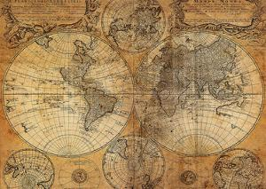World maps framed art at allposters vintage map gumiabroncs Image collections