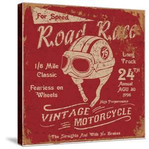 Vintage Motorbike Race Label