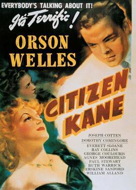 Vintage Movie Poster - Orson Welles in Citizen Kane