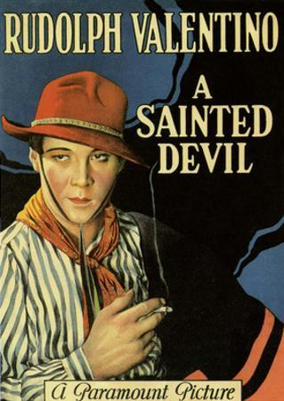 Vintage Movie Poster - Rudolph Valentino in A Sainted Devil