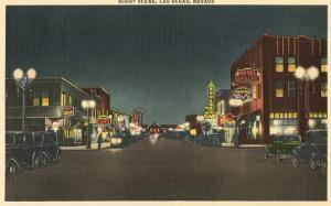 Vintage Night Scene, Las Vegas, Nevada
